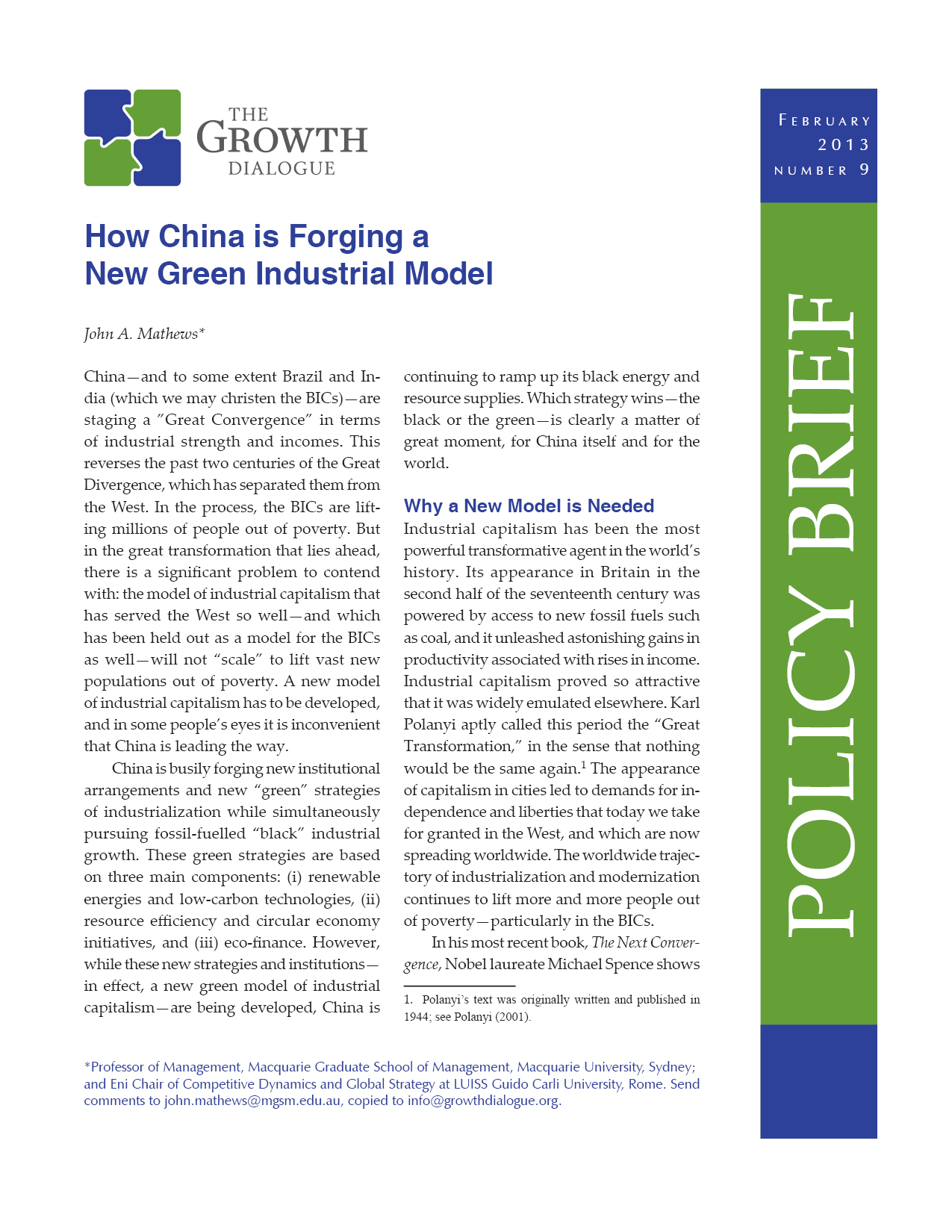 How China is Forging a New Green Industrial Model