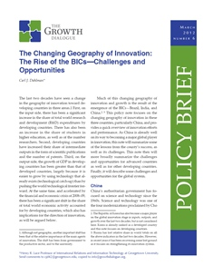 The Changing Geography of Innovation: The Rise of the BICs—Challenges and Opportunities