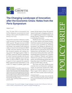 The Changing Landscape of Innovation after the Economic Crisis: Notes from the Paris Symposium