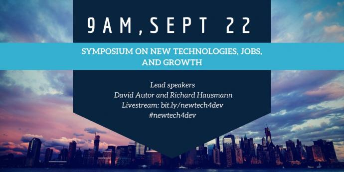 Symposium on New Technologies, Jobs, Growth and Development